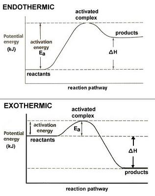reazioni esotermiche endotermiche