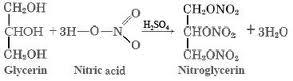 sintesi nitroglicerina