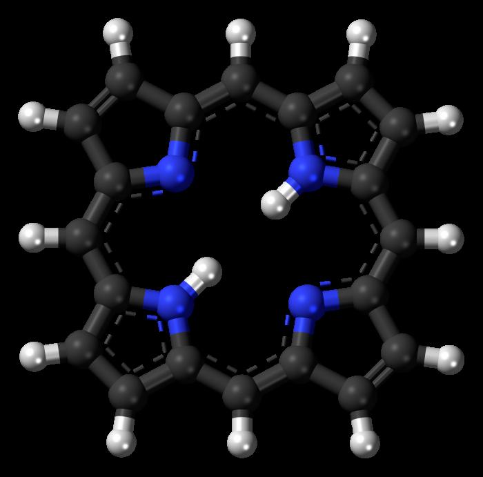 Porfirine -chimicamo