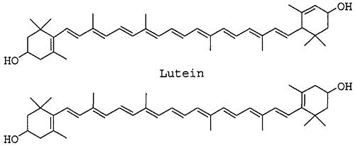 Luteina and zeaxantina
