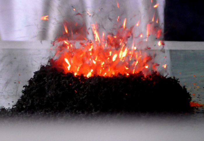 Eruzione vulcanica in laboratorio- chimicamo