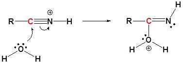 attacco nucleofilo acqua