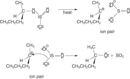 cloruro-di-tionile+ alcol