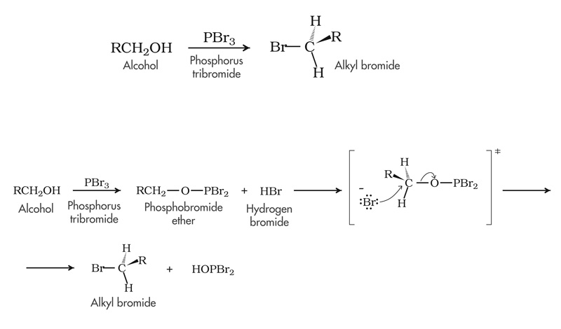PBr3 + alcol