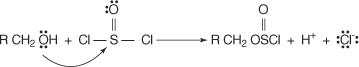 reazione di alcol e cloruro di tionile