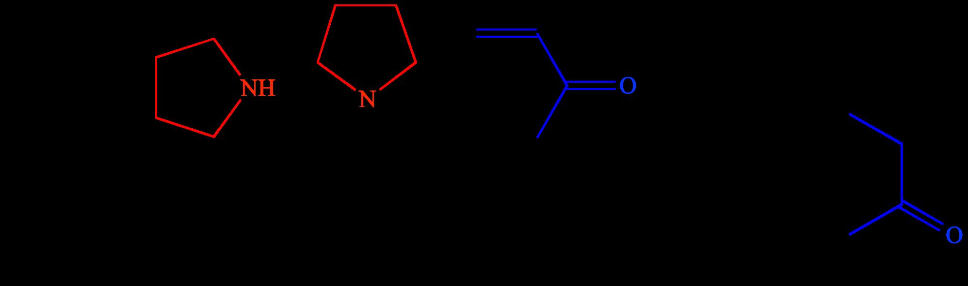 reazioni pirrolidina