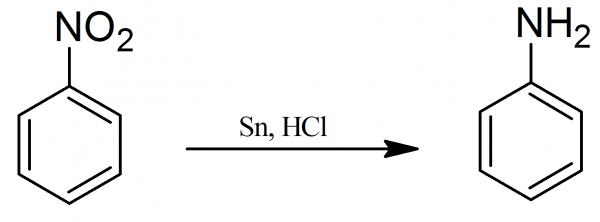 da nitrobenzene a anilina