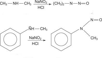 nitrosazione ammine secondarie
