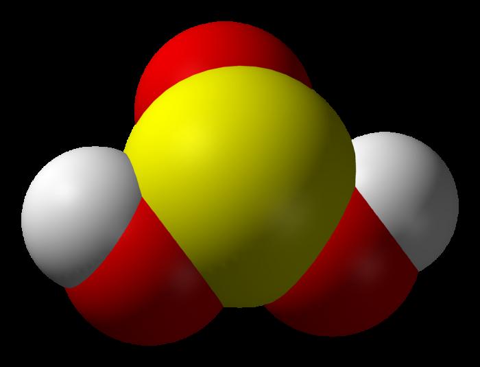 acido solforoso-chimicamo