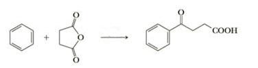 reazioni con benzene
